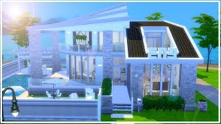 CONSTRUINDO CASA FRATERNIDADE MODERNA (COM CP) 🏢 | The Sims 4 | Speed Build