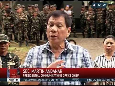 Duterte scraps ceasefire with communist rebels