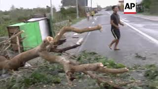 Aftermath of Typhoon Mangkhut, damage and clean-up