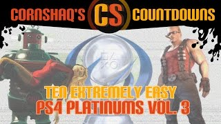 10 EXTREMELY EASY PS4 PLATINUM TROPHIES VOL. 3