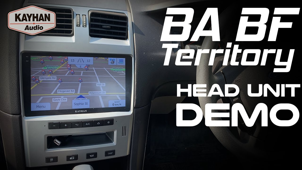 Kayhan Audio Ford BA/BF/Territory Head Unit Demo