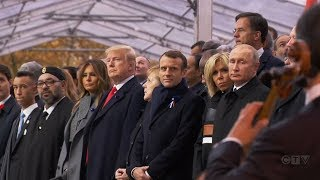 Macron rejects nationalism as Trump marks Armistice Day