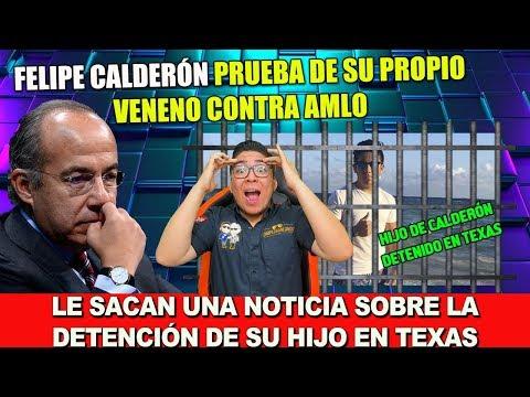 FELIPE CALDERÓN PRUEBA DE SU PROPA MALA LECHE CON AMLO