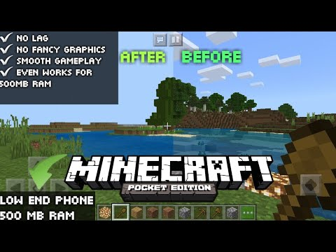 How To Reduce Lag In Minecraft PE | Smooth Gameplay and Lag Fix | 500 RAM Only