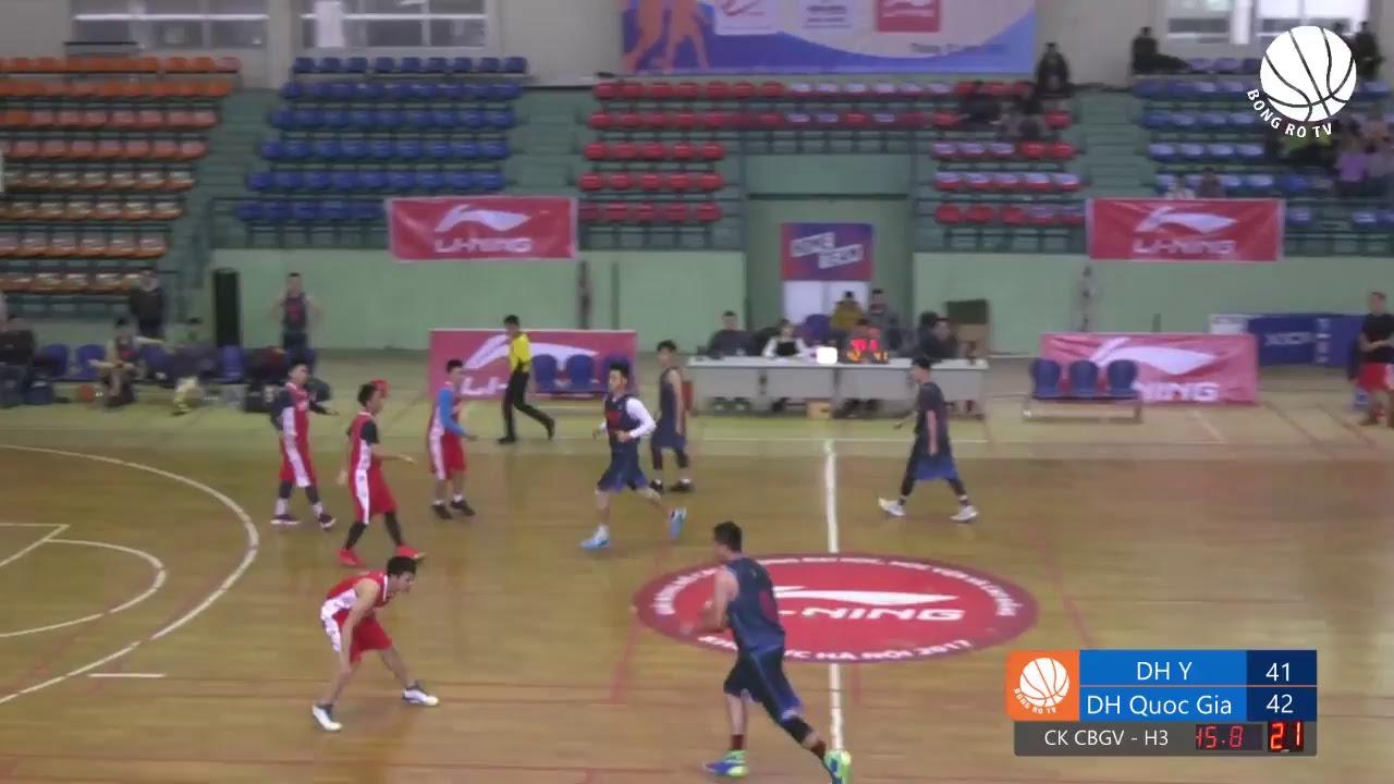 [Giải bóng rổ sinh viên Hà Nội 2017] Chung kết CBGV:  Đại học Y – Đại học Quốc Gia