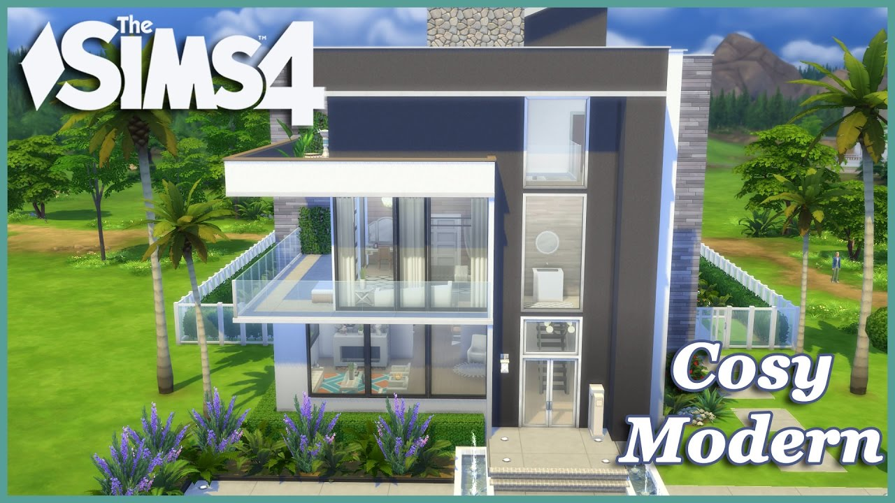 The sims 4 cosy modern house build youtube