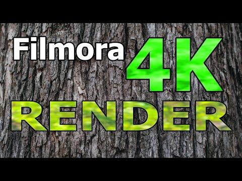 4K RENDER Filmora