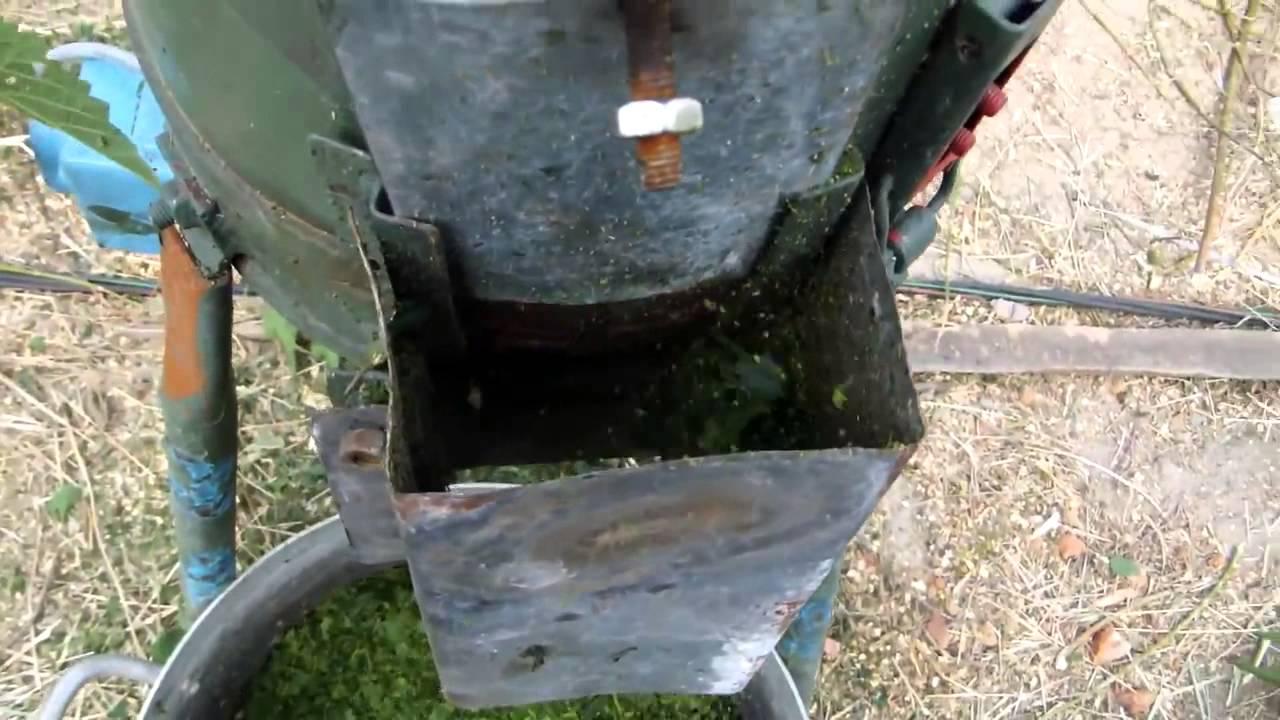 Траворезка из дрели своими руками видео