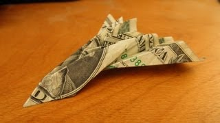 Origami Blackbird Jet Plane - Money Paper Folding