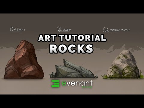 Rock Painting Tutorial - Digital Painting Basics - Concept A