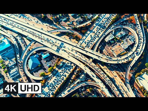 🔥 4K Drone | Los Angeles, California Travel Time Lapse: Downtown, Hollywood, Santa Monica & More