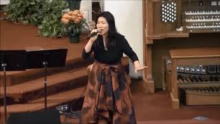 거룩하신 하나님 1118CMC 추수감사주일 특송 Grace Lee자매 세리토스선교교회 촬영  김정식  2018  11  18