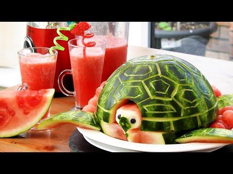 DIY Fruit Art | Watermelon Carving | Fruit & Vegetable Carving Lessons