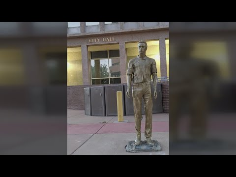 Jeffrey Epstein statue mysteriously appears outside City Hall