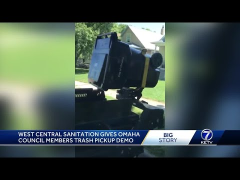 West Central Sanitation gives Omaha council members trash pickup demo