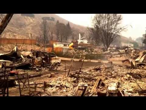 Pateros, Washington, homes burned in Carlton Complex Fire, July 17-18, 2014