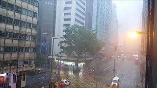 Hong Kong Streets Nearly Deserted As Typhoon Hato Hits