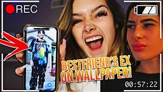 I PUT MY BESTFRIEND EX AS MY WALLPAPER..😳 *she cried*   VLOGMAS 2020