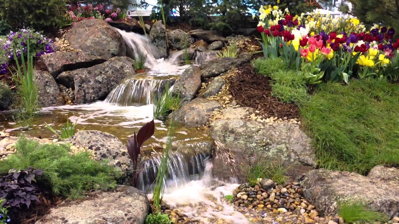 Rocky mountain waterscape 39 s colorado garden home show pondless waterfall youtube Colorado home and garden show