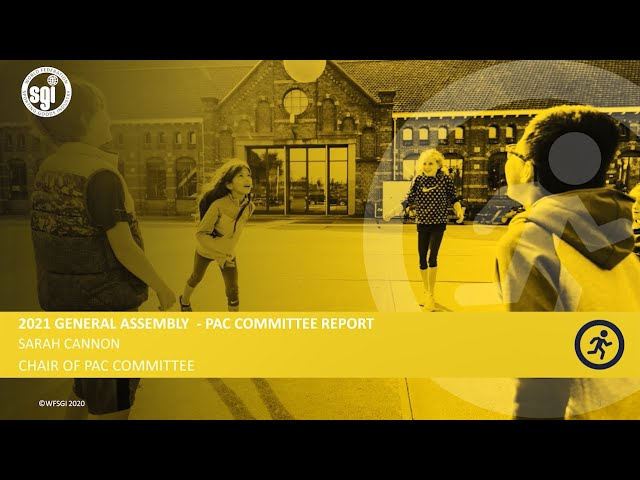WFSGI General Assembly 2021 - Physical Activity Committee Report 2020