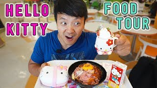 HELLO KITTY Food Tour of Sanrio Puroland in Tokyo Japan