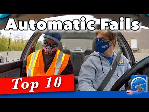 Top 10 Reasons Automatic Fail Driving Test