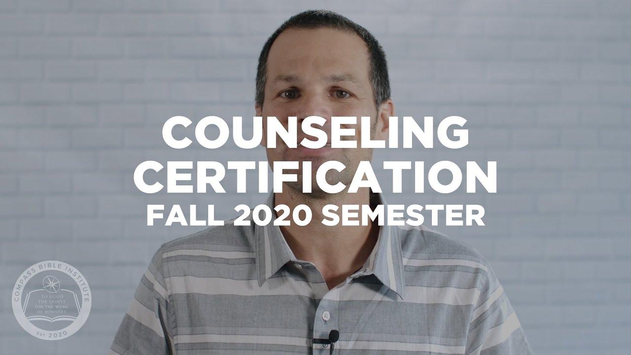 compass counselor become bible certification counseling biblical church certified statement galatians institute through sermon