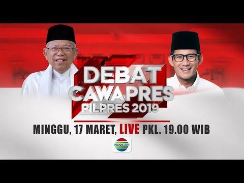 Saksikan Debat Cawapres 2019 Hanya Di Indosiar! - 17 Maret 2019