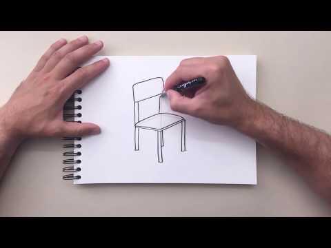 Как нарисовать объемный стул