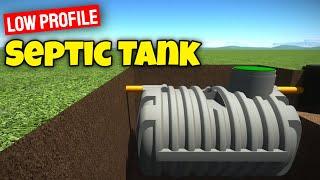 low profile septic tank