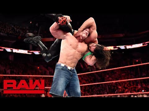 John Cena vs. Seth Rollins  SevenMan Gauntlet Match Part 2: Raw, Feb. 19, 2018