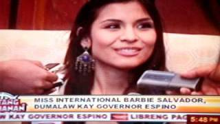 Barbara Barbie Salvador of Pozorrubio , Pangasinan on Balitang Amianan