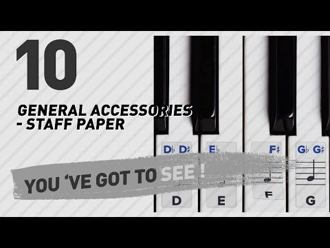 General Accessories - Staff Paper, Top 10 Collection // New & Popular 2017