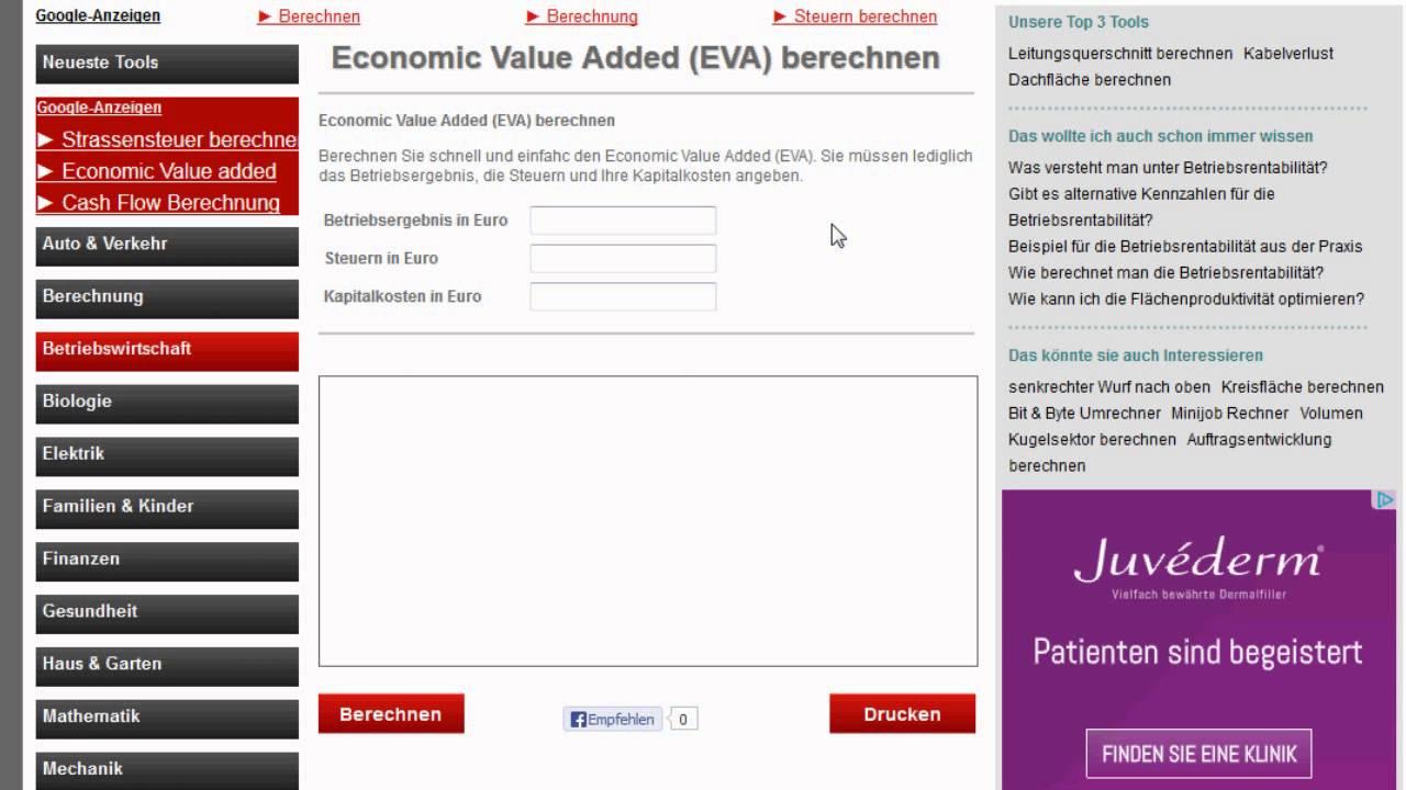 Economic Value Added EVA) - YouTube