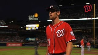 WSH@ATL: Strasburg ejected in the second inning