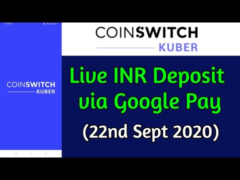 CoinSwitch Kuber Crypto Exchange || Live INR Deposit || Free Rs.50 BTC || 22nd Sep 2020