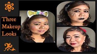 Three easy Halloween makeup looks