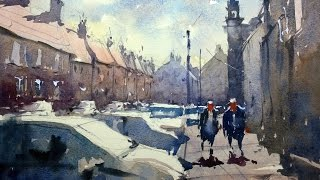Watercolour demonstration by Tim Wilmot - How to paint Cars and People - #6