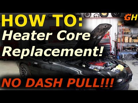 Heater Core Replacement WITHOUT Dash Pull!!! | Reborn Turbo Miata Build #27