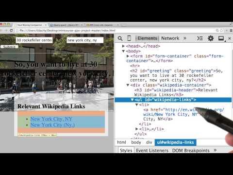 Wikipedia API - Intro to AJAX