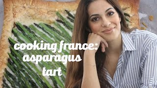 Asparagus Gruyere Tart Recipe || The Perfect French Hors d'Oeuvres