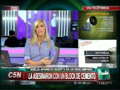 C5N - CRIMEN DE NOELIA: HABLA ANTONELA SU AMIGA