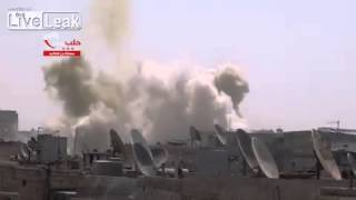 Syria - SAAF barrel bomb attack 28/08 -2 VIDEOS-