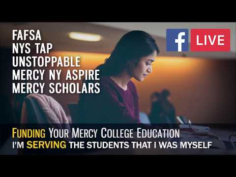 FB  LIVE: Margaret McGrail-head of Enrollment Services-on helping students finance college