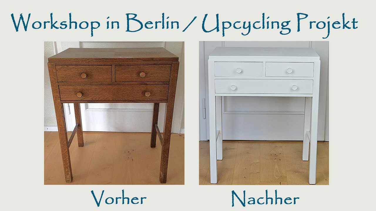 workshop in berlin upcycling eines alten m belst ckes produkttest youtube. Black Bedroom Furniture Sets. Home Design Ideas