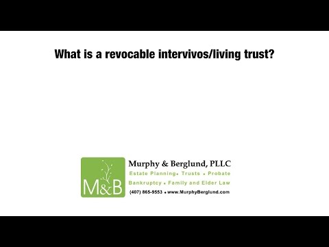 What is a revocable intervivos/living trust?