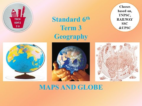Maps and Globe in Tamil and English for TNPSC, SSC, POLICE,