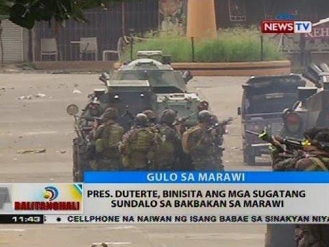 Pres. Duterte, binisita ang mga sugatang sundalo sa bakbakan sa Marawi