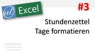 video excel 604 stundenzettel arbeitstage eines monats teil 1. Black Bedroom Furniture Sets. Home Design Ideas