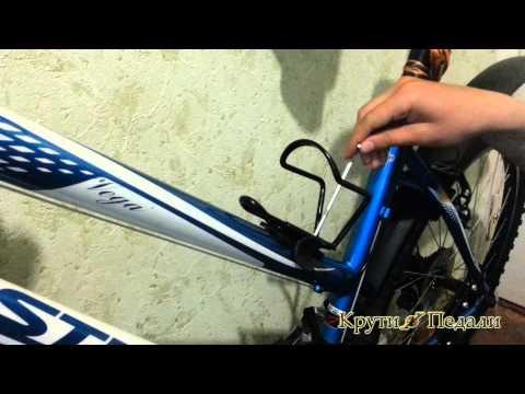 как установить бутылку и насос вместе на велосипед